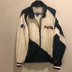 MLB Pro player Atlanta Braves windbreaker VTG